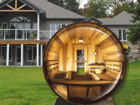 Dundalk Panoramic View Outdoor Barrel Sauna - Standard package