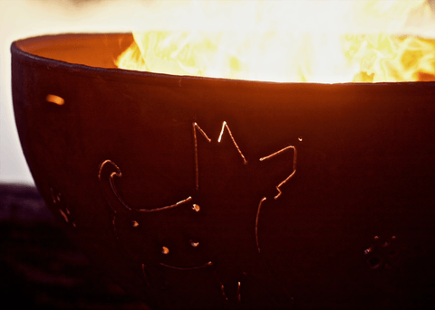 Image of Fire Pit Art - Funky Dog