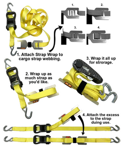 "Strap Wrap Organizer for 1"" Wide Straps"