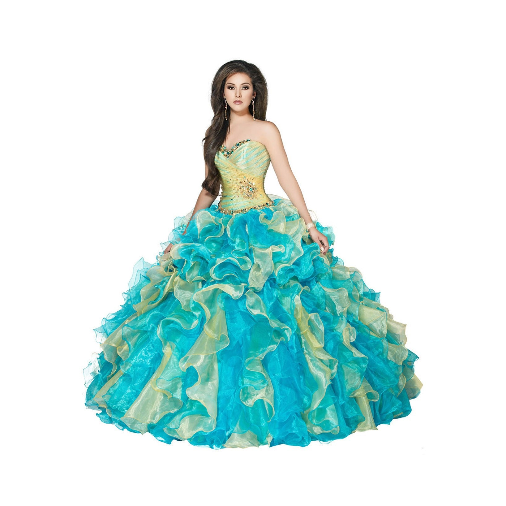 555ba929ebf Quinceanera Dresses Teal And Gold