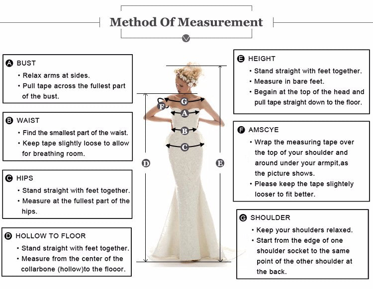 dress measuring chart - simpal boutique