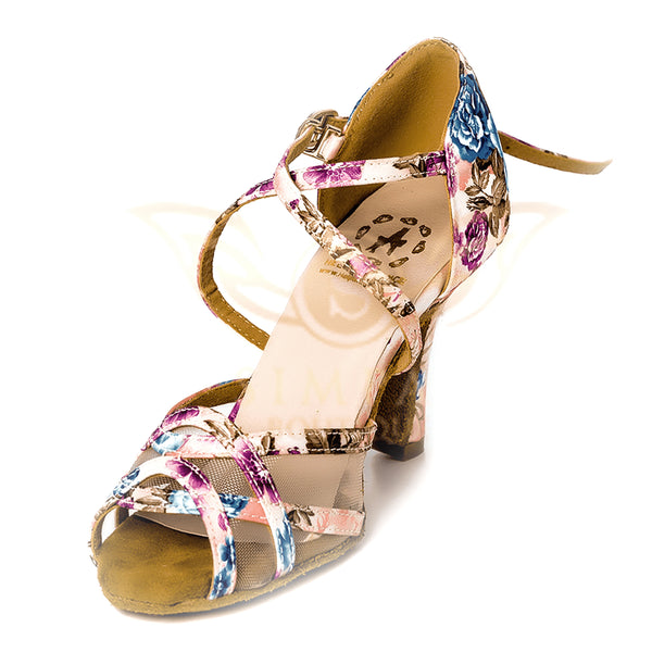 Help Me Dance - Dancing Shoe Latin Salsa Leather Female - KVE-689KVE - Simpal Boutique