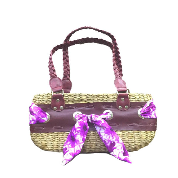Shiela Med Tote Bag Ecofriendly hand made-Violet - Simpal Boutique
