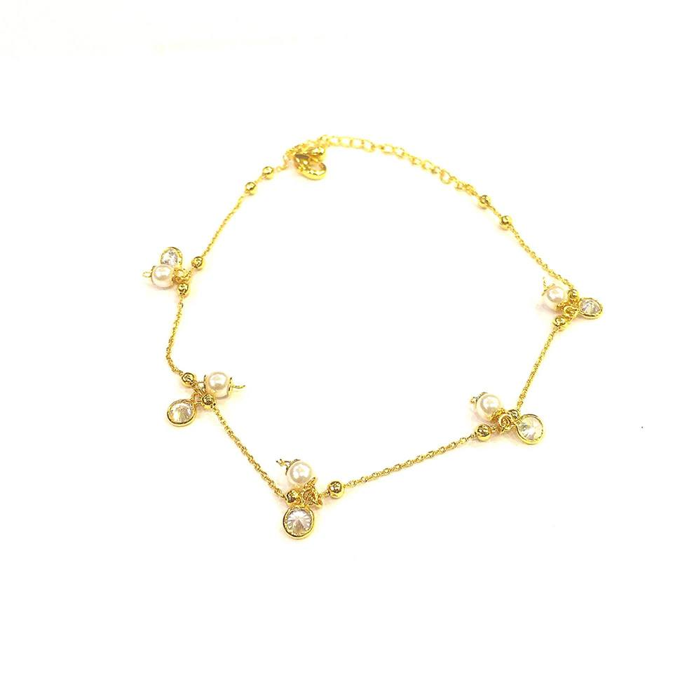 Fashion summer gold plated ankle chain anklets barefoot sandals beach foot anklet for women ladies girls - Simpal Boutique