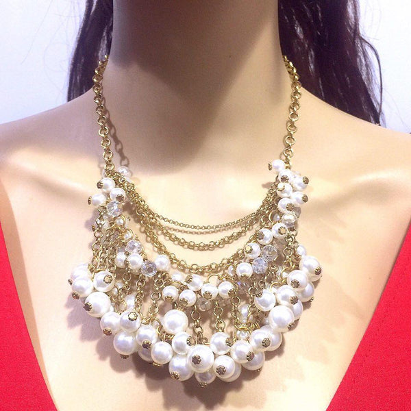 Necklace+Earring Set Accesories Pearl Set Office wear Accessories - Simpal Boutique