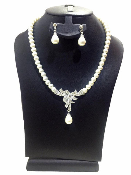 Fashion Pearl Party Necklace Set Necklace+ Earring Artificial Pearl Accesorries - Simpal Boutique