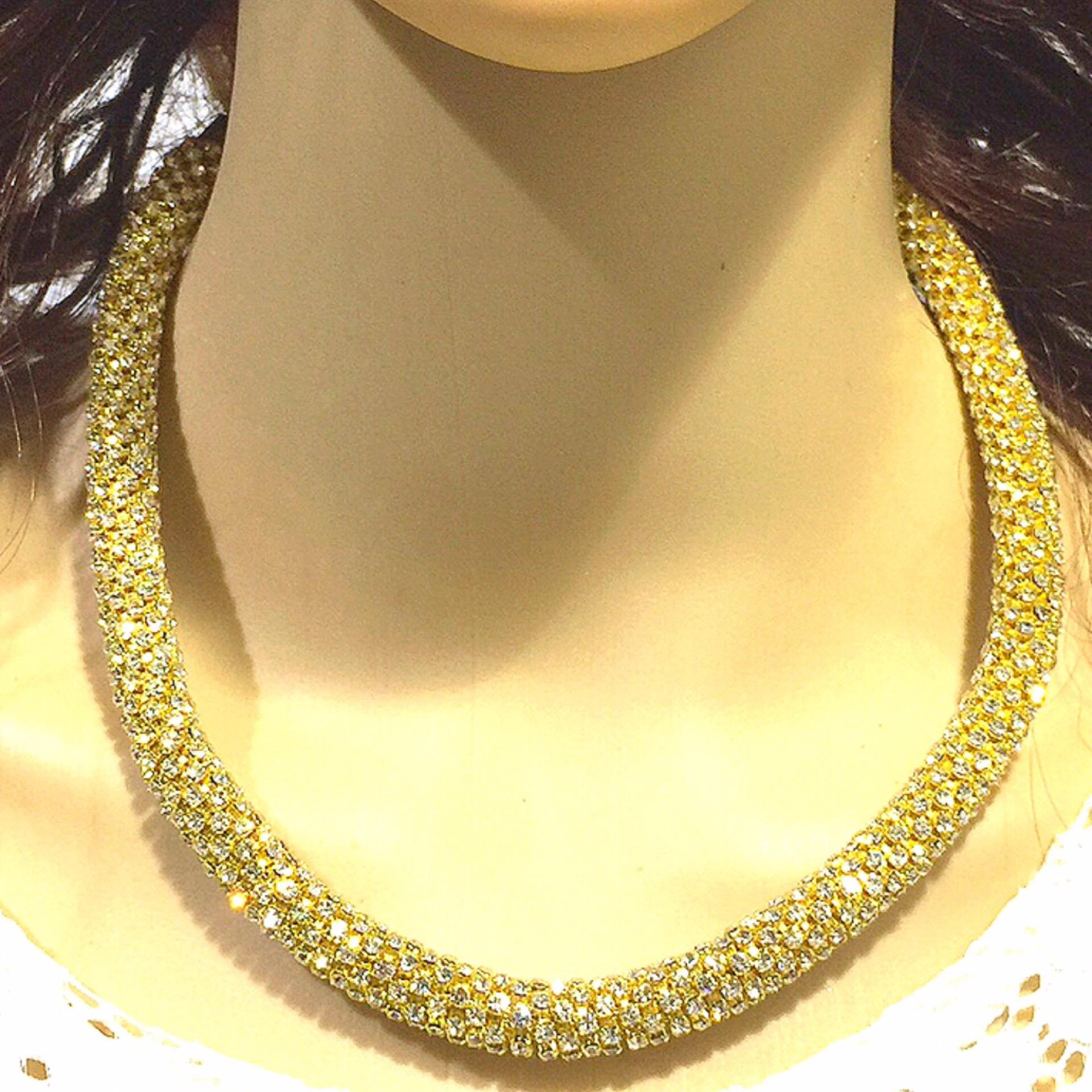 Fashion Crystal Party Necklace + Earring set Rhinestone Necklace Accessories. - Simpal Boutique