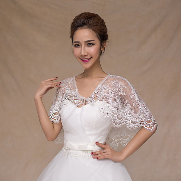 [In Store] Water soluble lace shawl for Wedding Dress - Simpal Boutique