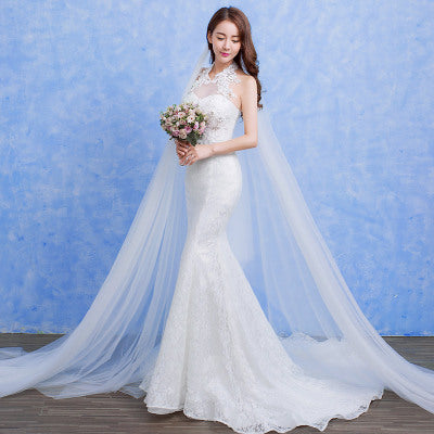 [In Store] Wedding fashion lace fishtail skirt Slim Skinny tail - Simpal Boutique