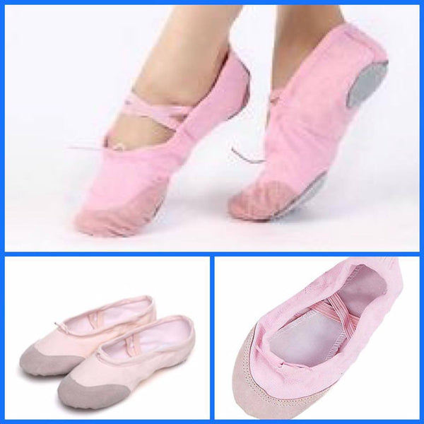 Help Me Dance Women's Ballet Shoes Canvas Flat Flat Heel Dance Shoes Black/ Pink - Simpal Boutique