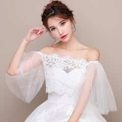 [In Store] One-shoulder lace bride shawl - Simpal Boutique