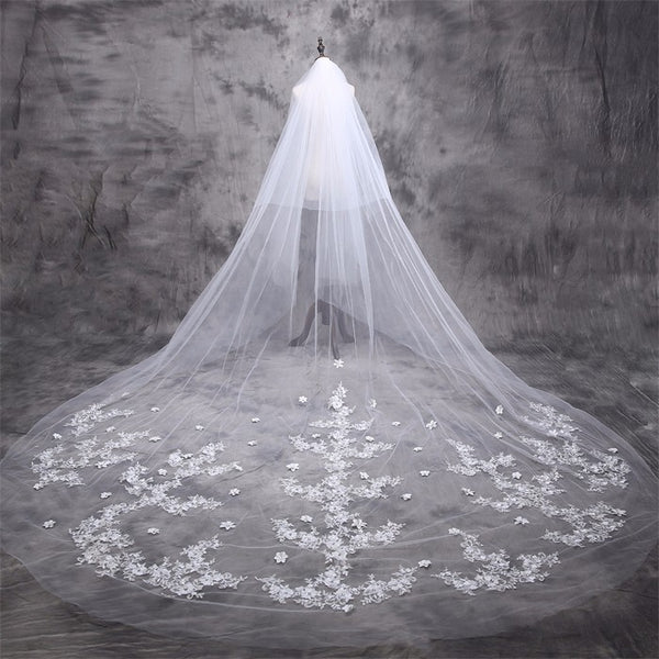 [In Store] 5Meter wedding veil for bride's head dress and wedding dress accessories - Simpal Boutique