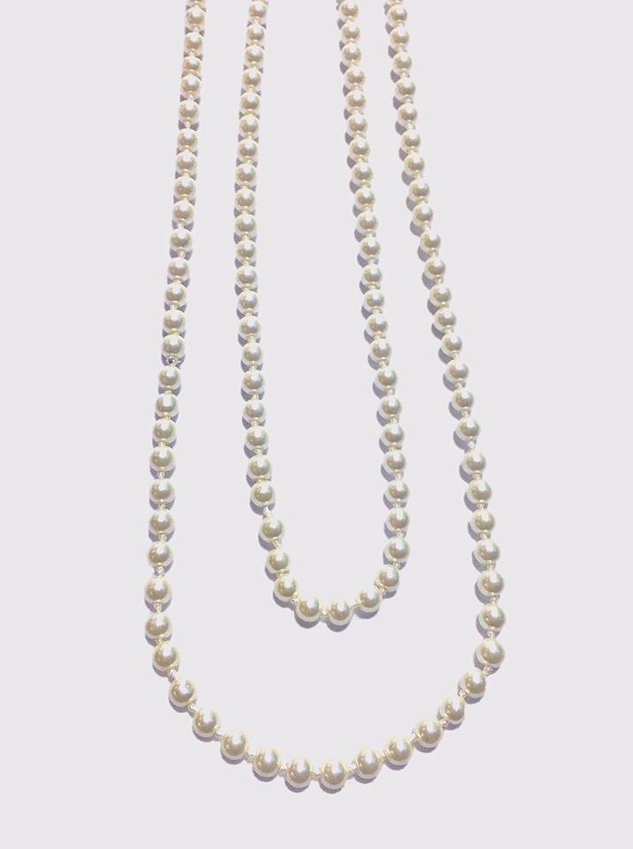Fashion Long Pearl Party Necklace Artificial Pearl Necklace - Simpal Boutique