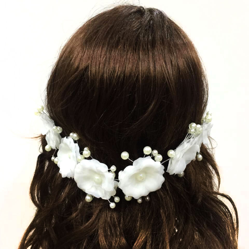 Adjustable Flower hair accesories- Women Girl Festival Wedding Flower Garland Wedding Festivals Photo Props - Simpal Boutique