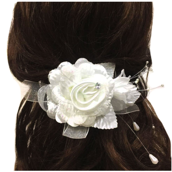 Bride Wedding Hair comb flower Headpieces (Side,back front) accesories Bridal Decorative Prom Hair Accessories for Women and Girls - Simpal Boutique