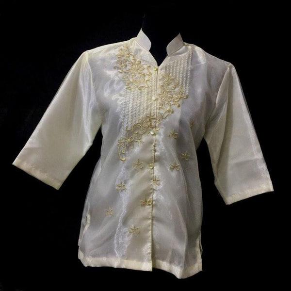 Ladies Barong  Chinese Collar 01 - Simpal Boutique