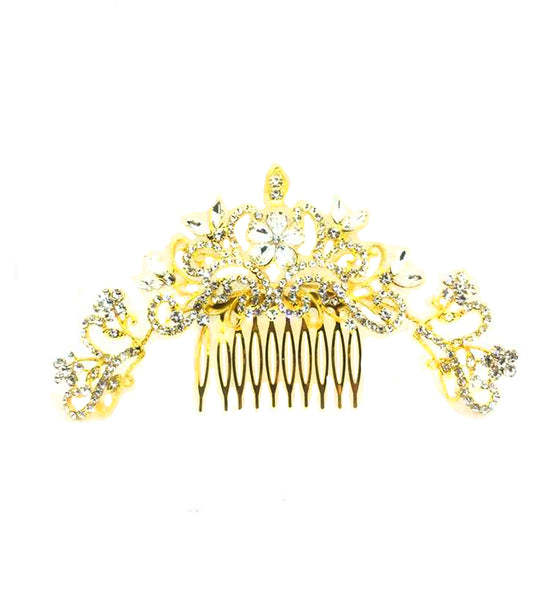 Bride Wedding Hair Comb Crystal Hair Jewelry Headpieces Side Comb Bridal Decorative Prom Hair Accessories for Women and Girls - Simpal Boutique