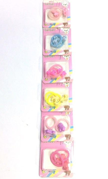 Hair tie for kids 6n1, hair accessories assorted color - Simpal Boutique