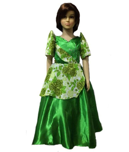 Mestiza kids Floral -Filipiniana Green - Simpal Boutique