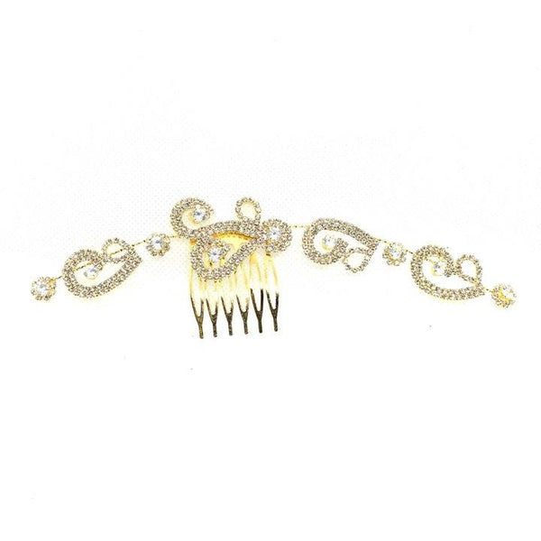 Wedding Crystal Equisite Hair Accesories with plated metal hand flowers bridal headdress wedding accessories - Simpal Boutique
