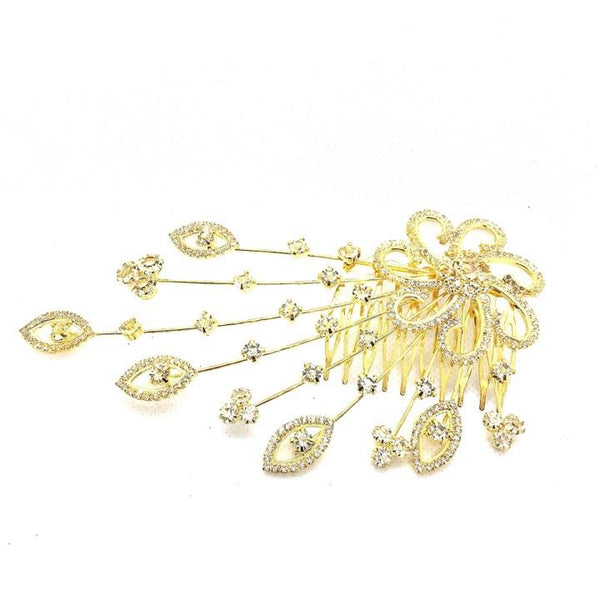 Fashion  Crystal Hair Accesories plate hair comb inserted comb hand flowers bridal headdress wedding accessories - Simpal Boutique