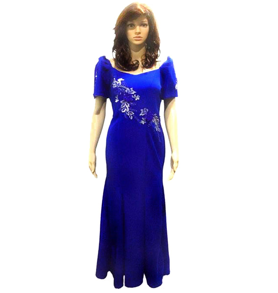 Mestiza Filipiniana Spandex Gown - Simpal Boutique