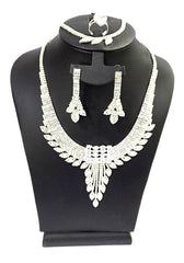 Necklace Set Zirconia Jewellery Earring Bracelet Ring - Simpal Boutique