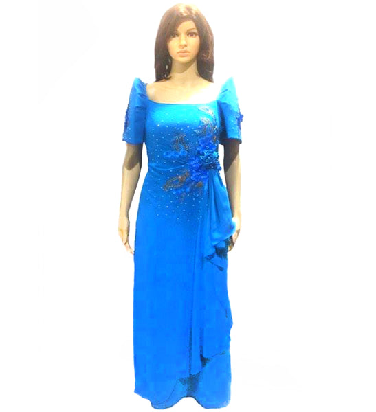Mestiza Filipiniana Chiffon Gown - Simpal Boutique