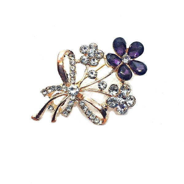 Unique Crystal Wedding Flower Leaf Bouquet Brooch, Wedding Bridal Crystal Rhinestone Bouquet Brooch Pin  2 - Simpal Boutique