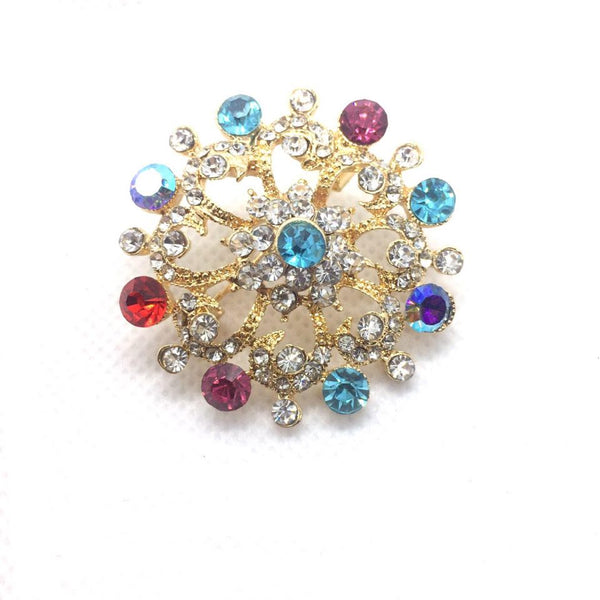 Floral Brooch Women's Crystal Wedding F Bouquet Brooch, Wedding Bridal Crystal Rhinestone Bouquet Brooch Pin - Simpal Boutique