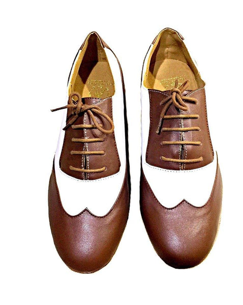 Help Me Dance Men's Modern Shoes / Ballroom Shoes Leather Lace-up Heel Thick Heel Dance Shoes Brown - Simpal Boutique