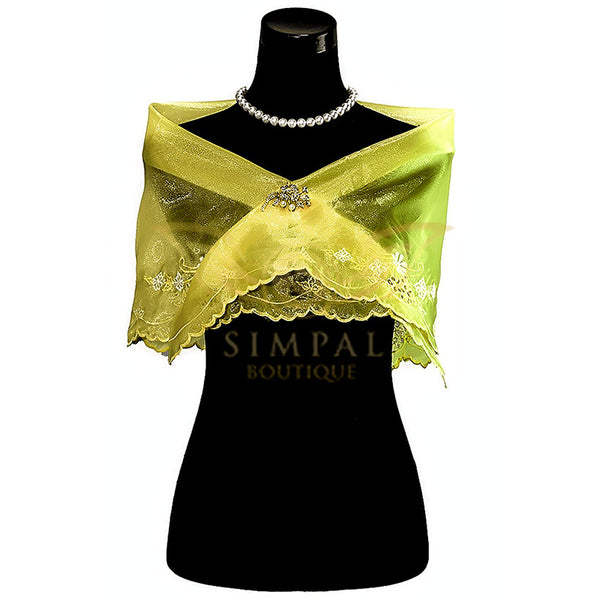 Cutwork Alampay - Yellow - Simpal Boutique