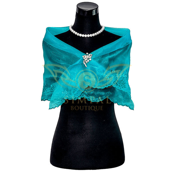 Cutwork Alampay - Turquoise - Simpal Boutique