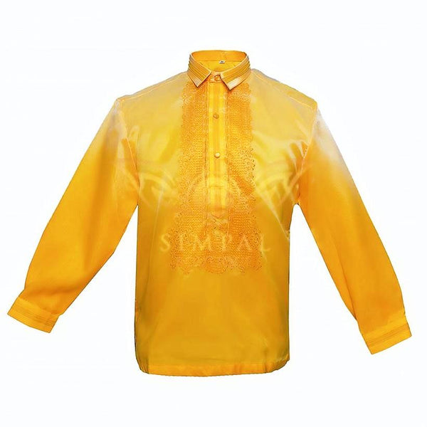 Colored Lining Barong Tagalog - Golden Yellow - Simpal Boutique