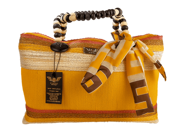 Althea Abaka Bag Eco-friendly bag Yellow - Simpal Boutique
