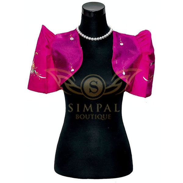 Mestiza Bolero Fuchsia Pink -  Filipinana - Adults - Simpal Boutique