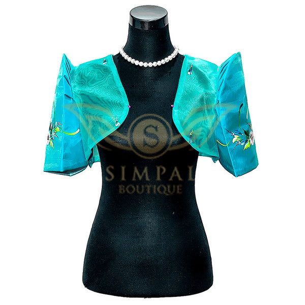 Mestiza Bolero Turquoise -  Filipinana - Adults - Simpal Boutique
