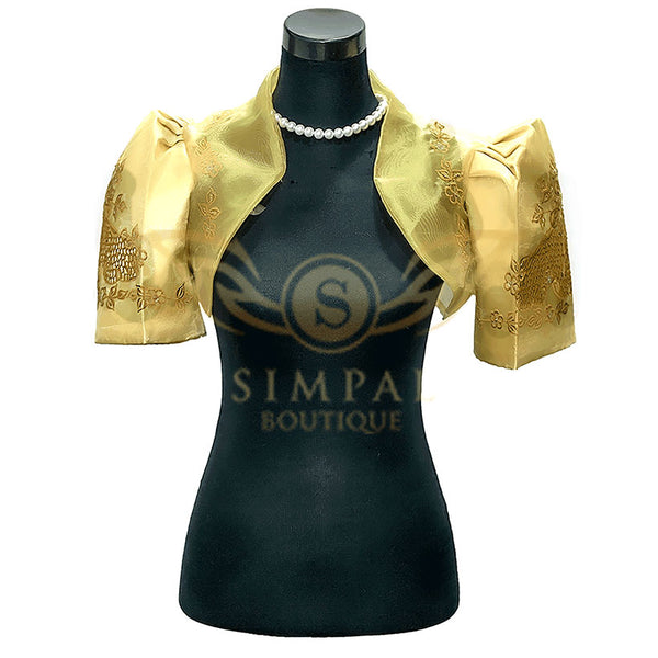 Mestiza Bolero Golden Yellow Cutwork - Simpal Boutique