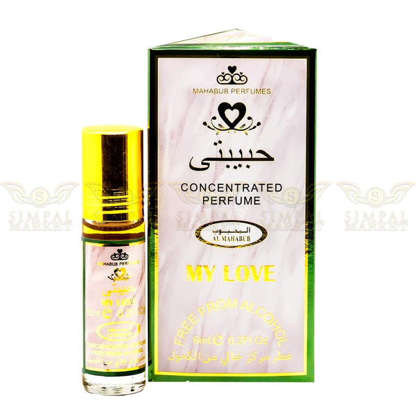 My Love Concentrated Alcohol Free Perfume Oil Roll-On 6ml - Simpal Boutique