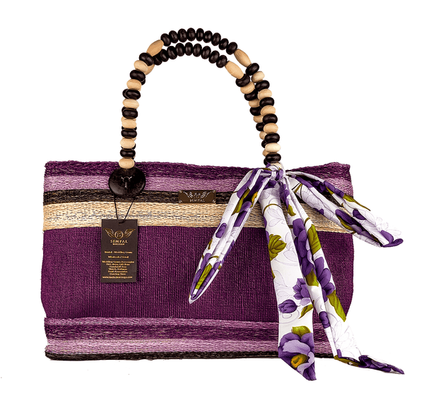Althea Abaka Bag Eco-friendly bag Violet - Simpal Boutique