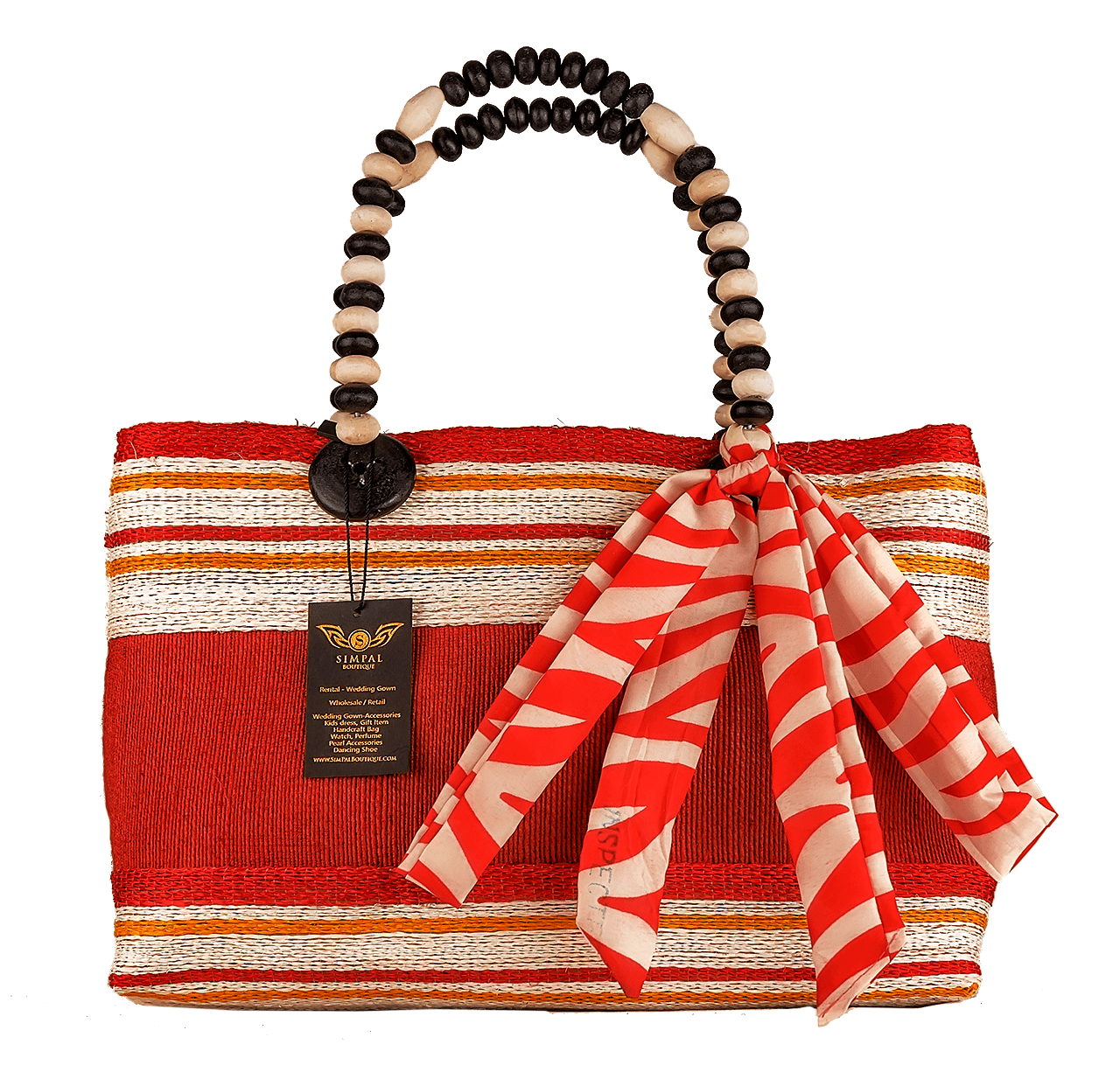 Althea Abaka Bag Eco-friendly bag Red - Simpal Boutique