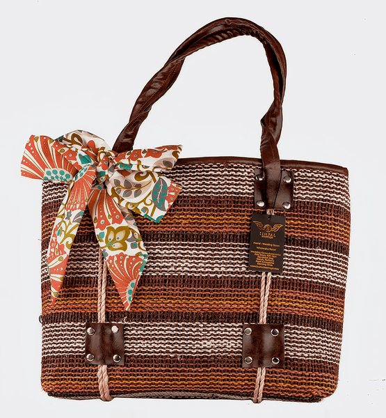 SLS_Kate Abaka Bag Eco-friendly pouch  bag Brown - Simpal Boutique