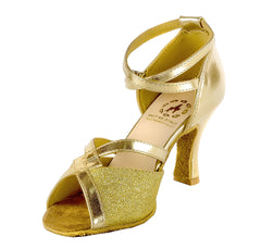 Help Me Dance - Women's Dance Shoes PU Latin Shoes Buckle Sandal / Sneaker Slim High Dancing ShoeLeather Female -KVE-300-CDE - Simpal Boutique