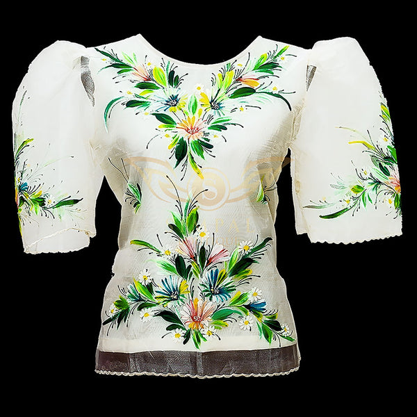 Kimona - Ivory Painted -  Filipinana - Adults - Simpal Boutique