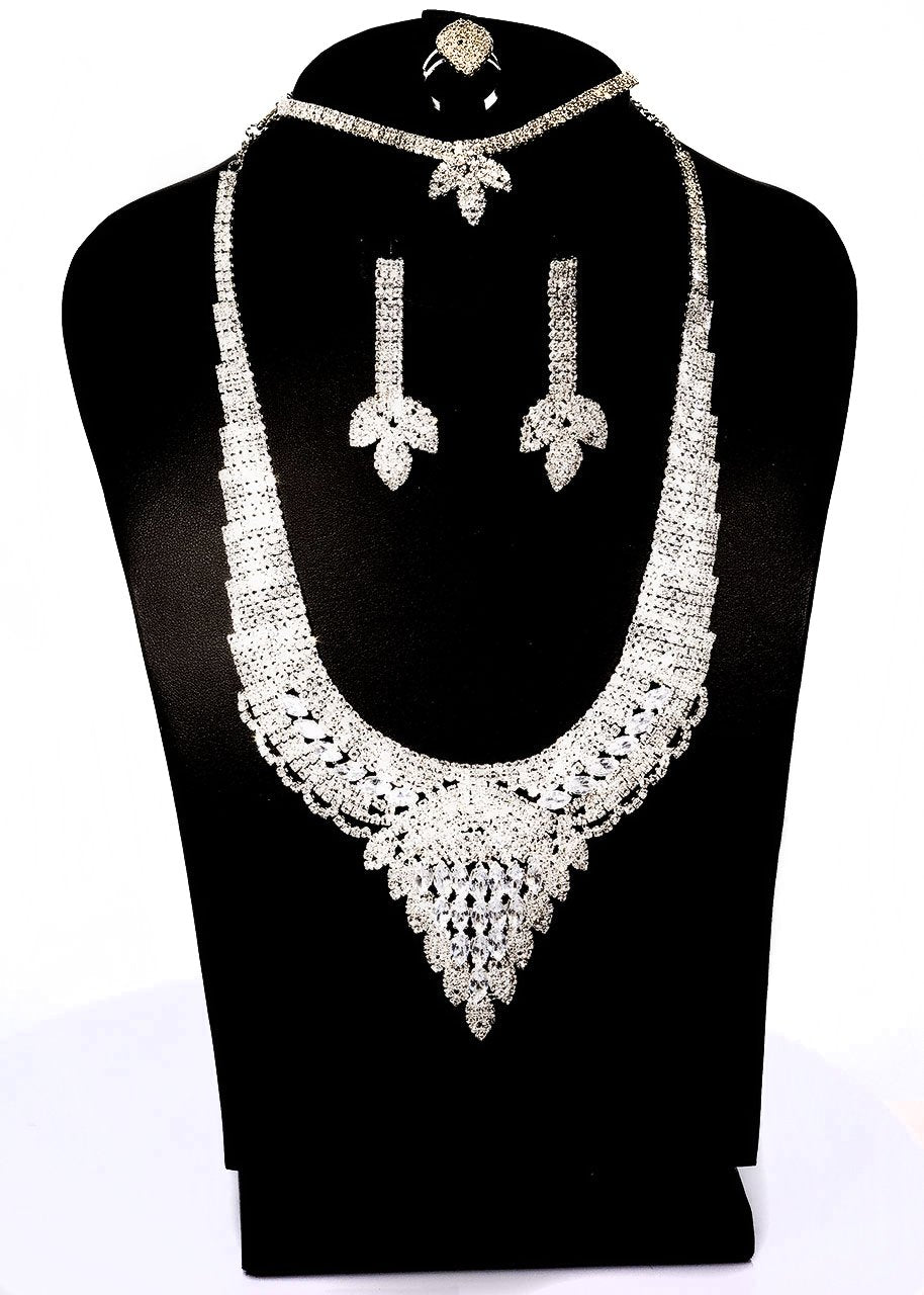 Quality Best Fashion Accessories Jewelry Set Necklace/Earring/Bracelet/Ring for Wedding/Party/Prom 02 - Simpal Boutique