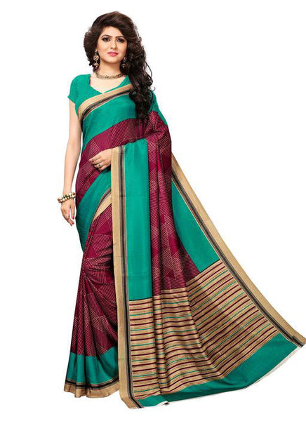 Multicolor Woven Cotton Silk Saree With Blouse -E9 - Simpal Boutique