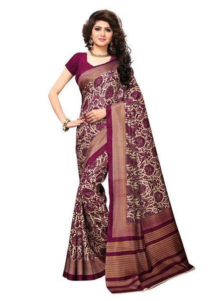 Multicolor Woven Cotton Silk Saree With Blouse -E10 - Simpal Boutique