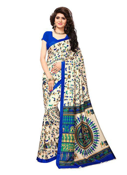 Multicolor Woven Cotton Silk Saree With Blouse -E2 - Simpal Boutique