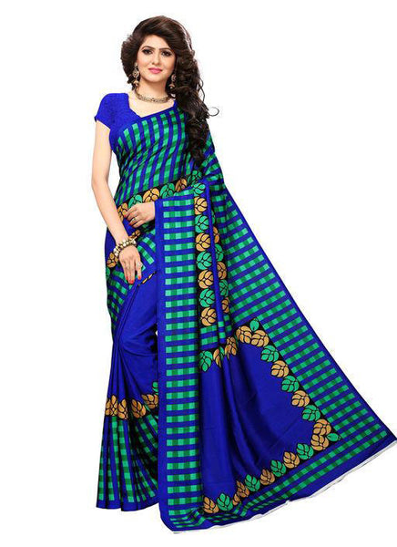 Multicolor Woven Cotton Silk Saree With Blouse -E3 - Simpal Boutique