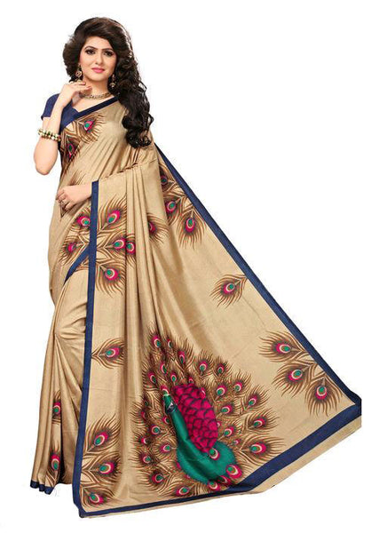 Multicolor Woven Cotton Silk Saree With Blouse -E4 - Simpal Boutique